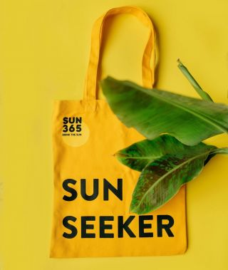 Carry a piece of SUN everywhere you go! Visit our eco shop for more sunny accessories! ☀️ #sun365 #eco #store #shop #reusable #bag #yellow #spreadthesun